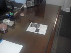 Maryland lawyer's desk