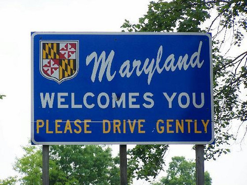 Maryland DUI, out of state license