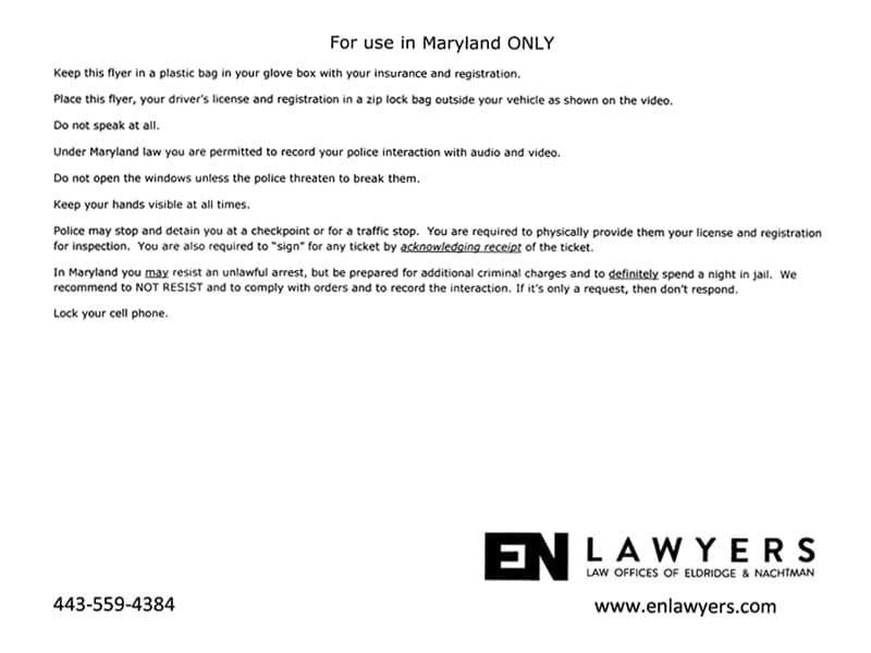 Maryland DUI Checkpoint Plan